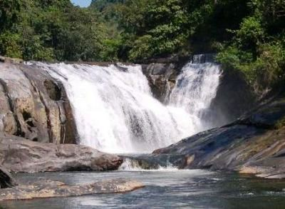 In the picture here is Dondole falls, a small rivulet in Belthangady Taluk of Karnataka. The picutre above shows how it existed originally and the second picture of the same falls is just one of the hundreds of examples of what happened to the rivers around Western Ghats.