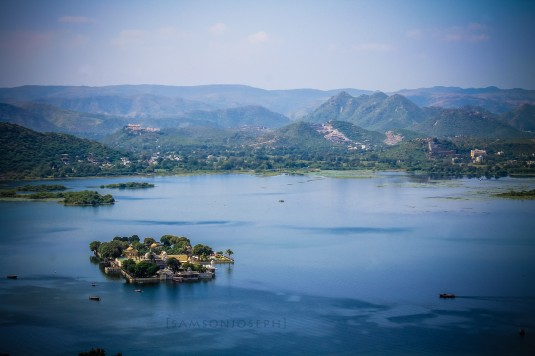 Lake Pichola from Kali temple, Udaipur