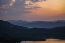 Sunset across Aravalli Hills, Udaipur